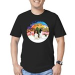XMusic2-Two Springer Spaniels Men's Fitted T-Shirt
