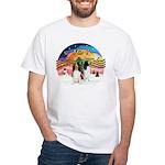 XMusic2-Two Springer Spaniels White T-Shirt