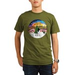 XM2-English Springer (BW) Organic Men's T-Shirt (d