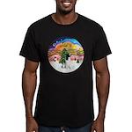 XM2-English Springer (BW) Men's Fitted T-Shirt (da