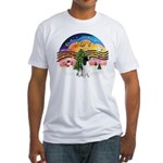 XM2-English Springer (BW) Fitted T-Shirt