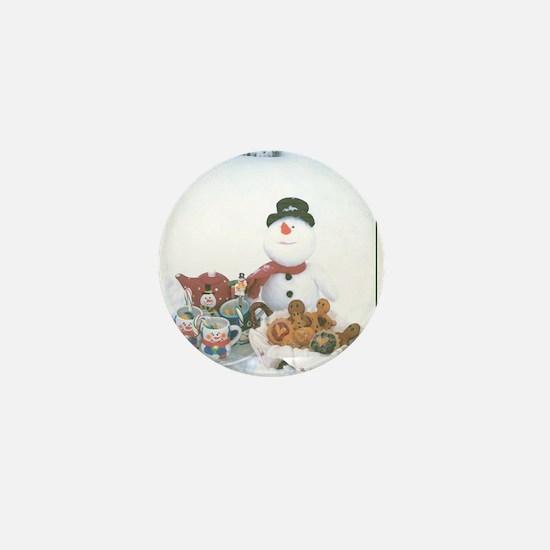 Snowmen Love Snacks. Mini Button