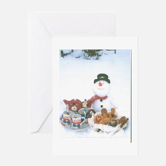Snowmen Love Snacks. Greeting Card