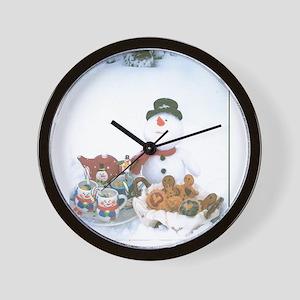 Snowmen Love Snacks. Wall Clock