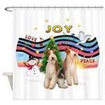 XMusic1 - Two Wire Fox Terriers Shower Curtain