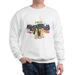 XMusic1 - Two Wire Fox Terriers.png Sweatshirt