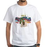 XMusic1 - Two Wire Fox Terriers White T-Shirt
