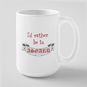 Id Rather Be In Asgard Large Mug