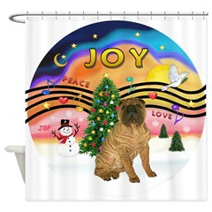XMusic2-SharPei (J) Shower Curtain