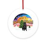 XMusic2-Black Shar Pei Ornament (Round)