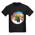XMusic2-Black Shar Pei Kids Dark T-Shirt