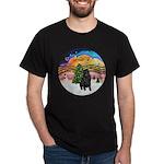 XMusic2-Black Shar Pei Dark T-Shirt
