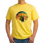 XMusic2-Black Shar Pei Yellow T-Shirt
