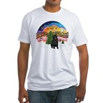 XMusic2-Black Shar Pei Fitted T-Shirt