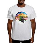 XMusic2-Black Shar Pei Light T-Shirt