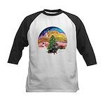 XMusic2-Dachshund 4 (BT) Kids Baseball Jersey