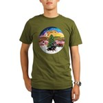 XMusic2-Dachshund 4 (BT) Organic Men's T-Shirt (da