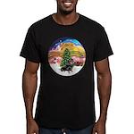 XMusic2-Dachshund 4 (BT) Men's Fitted T-Shirt (dar