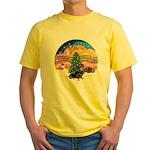 XMusic2-Dachshund 4 (BT) Yellow T-Shirt
