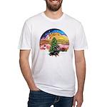 XMusic2-Dachshund 4 (BT) Fitted T-Shirt