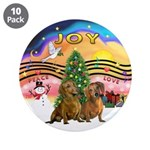 """XMusic2-Two brown Dachshunds 3.5"""" Button (10"""