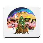 XMusic2-Two brown Dachshunds Mousepad