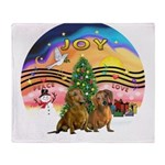 XMusic2-Two brown Dachshunds Throw Blanket