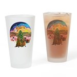 XMusic2-Two brown Dachshunds Drinking Glass