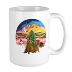 XMusic2-Two brown Dachshunds Large Mug