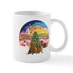 XMusic2-Two brown Dachshunds Mug