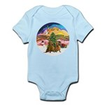 XMusic2-Two brown Dachshunds Infant Bodysuit
