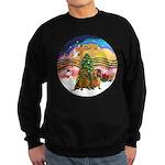 XMusic2-Two brown Dachshunds Sweatshirt (dark)