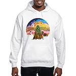 XMusic2-Two brown Dachshunds Hooded Sweatshirt