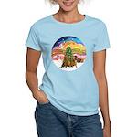 XMusic2-Two brown Dachshunds Women's Light T-Shirt