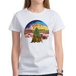 XMusic2-Two brown Dachshunds Women's T-Shirt