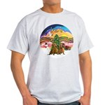 XMusic2-Two brown Dachshunds Light T-Shirt
