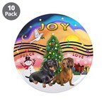 """XMusic2-Two Dachshunds 3.5"""" Button (10 pack)"""