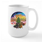 XMusic2-Two Dachshunds Large Mug