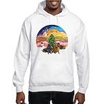 XMusic2-Two Dachshunds Hooded Sweatshirt