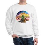 XMusic2-Two Dachshunds Sweatshirt