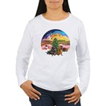 XMusic2-Two Dachshunds Women's Long Sleeve T-Shirt