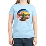 XMusic2-Two Dachshunds Women's Light T-Shirt