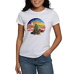 XMusic2-Two Dachshunds Women's T-Shirt