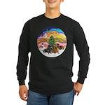 XMusic2-Two Dachshunds Long Sleeve Dark T-Shirt