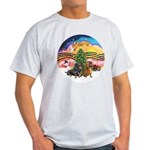 XMusic2-Two Dachshunds Light T-Shirt