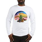 XMusic2-Two Dachshunds Long Sleeve T-Shirt