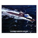 USS GEORGE WASHINGTON Small Poster