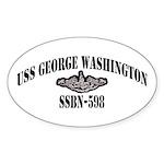 USS GEORGE WASHINGTON Sticker (Oval)