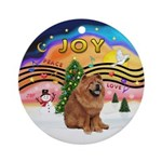 XMusic2-Chow Chow Ornament (Round)