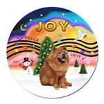 XMusic2-Chow Chow Round Car Magnet